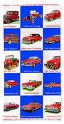 Red Cars Of America Beach Towel