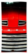 Red Cheeks Ford Beach Towel