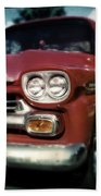 Red Chevy Pickup Beach Towel