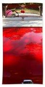 Red Convertible Beach Towel