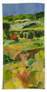 Red Cottage Beach Towel