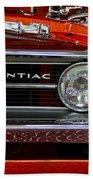 Red Customized Retro Pontiac-front Left Beach Towel