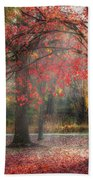 Red Dawn Square Beach Towel by Bill Wakeley