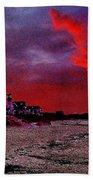 Red Dawn Beach Towel