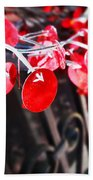 Red Decorations Beach Towel