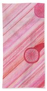 Red Delight Lines Beach Towel
