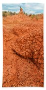 Red Desert Column Beach Towel