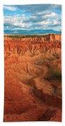 Red Desert Landscape Beach Towel