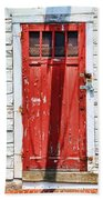 Red Door By Diana Sainz Beach Towel by Diana Sainz