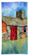 Red Door Cottage Beach Towel