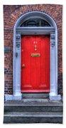Red Door Dublin Ireland Beach Towel
