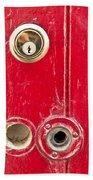 Red Door Lock Beach Towel