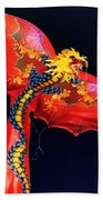 Red Dragon Kite Beach Towel