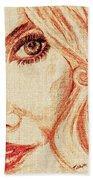 Red Eyes.  Beach Towel