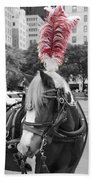 Red Feathers Beach Towel