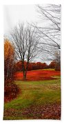 Red Field Autumn Beach Towel