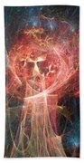 Red Fire Angels With Tower #1 Beach Towel