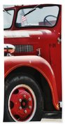 Red Fire Truck Beach Towel