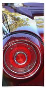 Red Ford Tailight Beach Towel