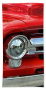 Red Ford Truck Beach Towel