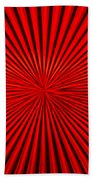 Red Glass Abstract 1 Beach Towel