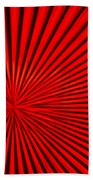 Red Glass Abstract 3 Beach Towel