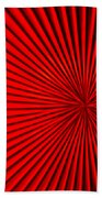 Red Glass Abstract 5 Beach Towel