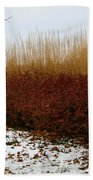 Red Gold Hedge Beach Towel