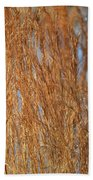 Red Gold Beach Towel