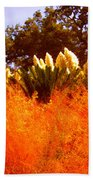 Red Grass Beach Towel