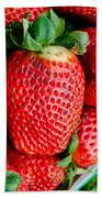 Red Juicy Delicious California Strawberry Beach Towel