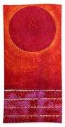 Red Kachina Original Painting Beach Towel