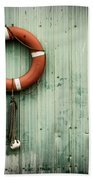 Red Life Saver Rescue Floatation Beach Towel