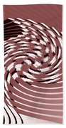 Red Malestrom Beach Towel