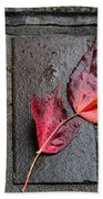 Red Maple Bricks Beach Towel