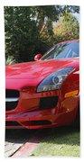 Red Mercedes Benz Beach Towel