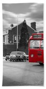 Red Midland Bus And Sheep - 1960's    Ref-126 Beach Towel