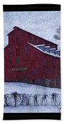 Red Mill Antique Barn Beach Towel