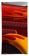 Red Orange And Yellow Hotrod Beach Towel