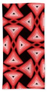 Red Ornament IIi Beach Towel