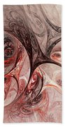 Red Passion - Abstract Art Beach Towel