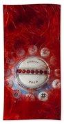 Red Phone For Emergencies Beach Towel