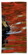 Red Pond Beach Towel