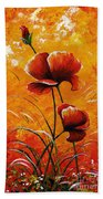 Red Poppies 023 Beach Towel