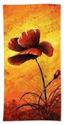Red Poppy 012 Beach Towel