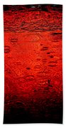 Red Rain Beach Towel by Dave Bowman