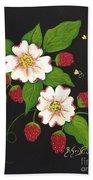 Red Raspberries And Dogwood Flowers Beach Towel