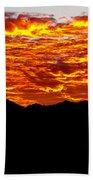 Red Rays Beach Towel