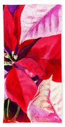 Red Red Christmas Beach Towel