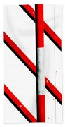 Red Red Line Beach Towel